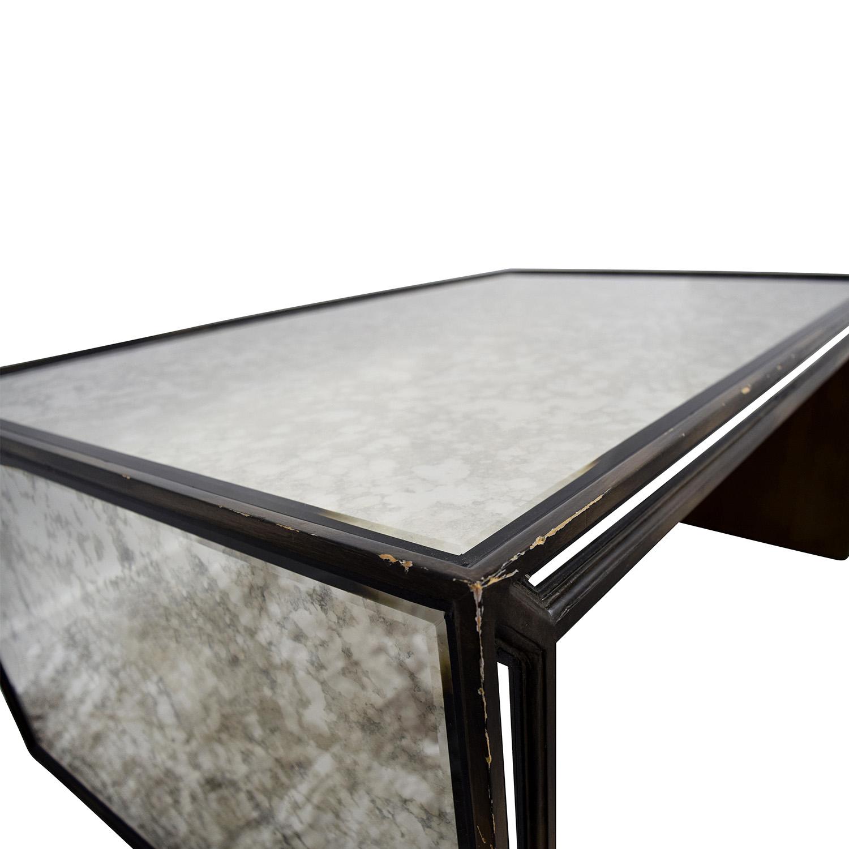 76 off arhaus furniture arhaus mirrored coffee table tables