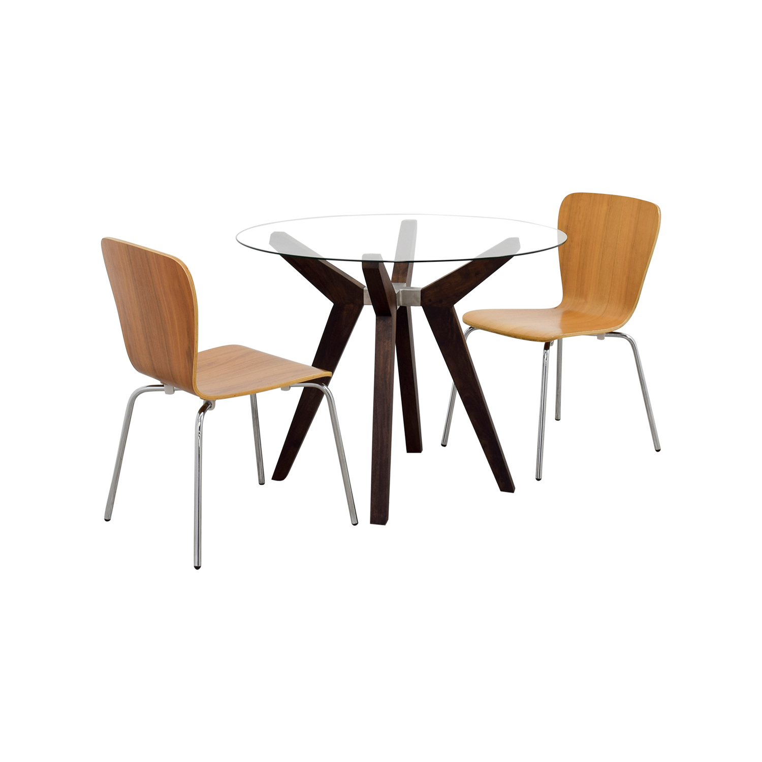 74 Off Crate Barrel Crate Barrel Strut Round Dining Table Set Tables