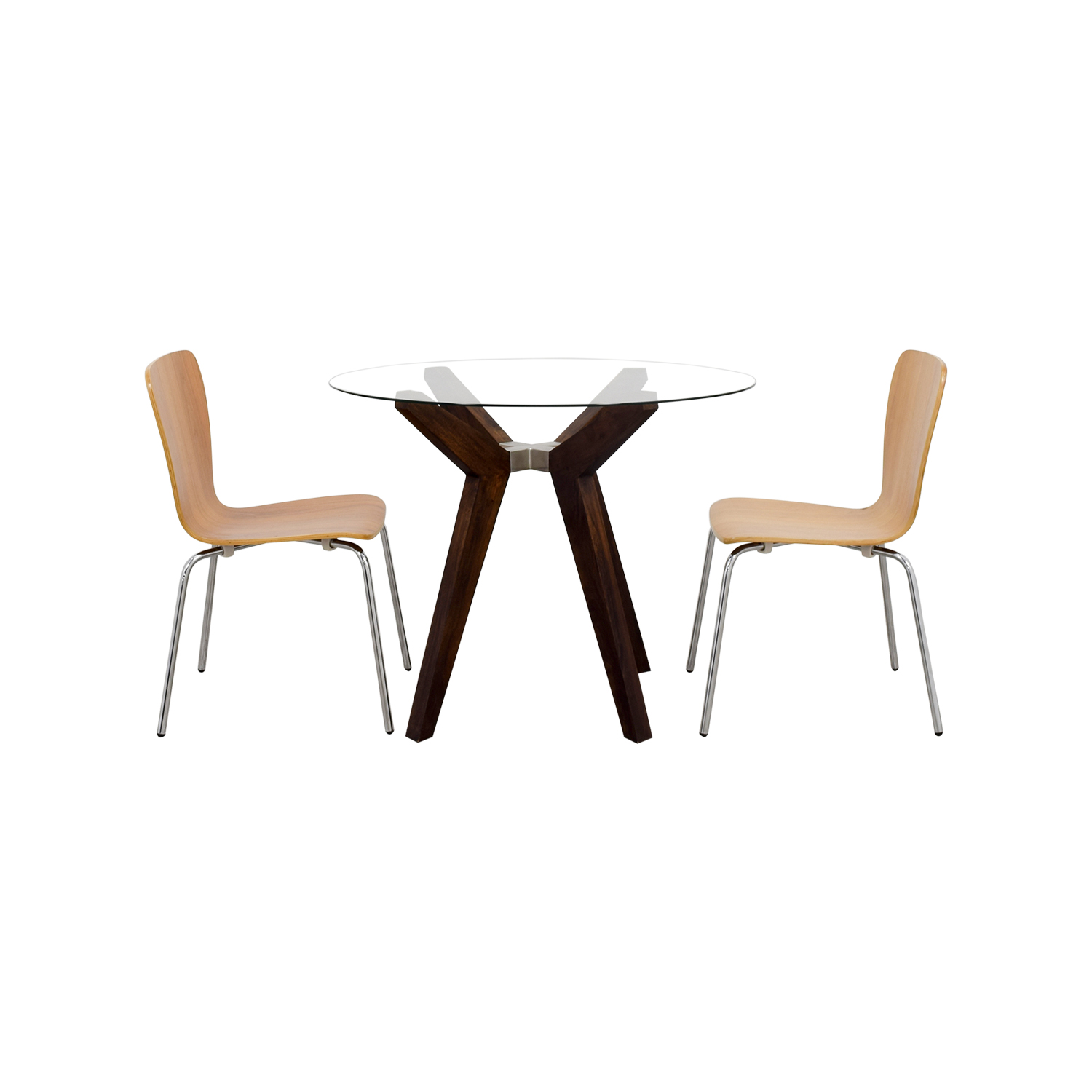 Crate & Barrel Strut Round Dining Table Set sale