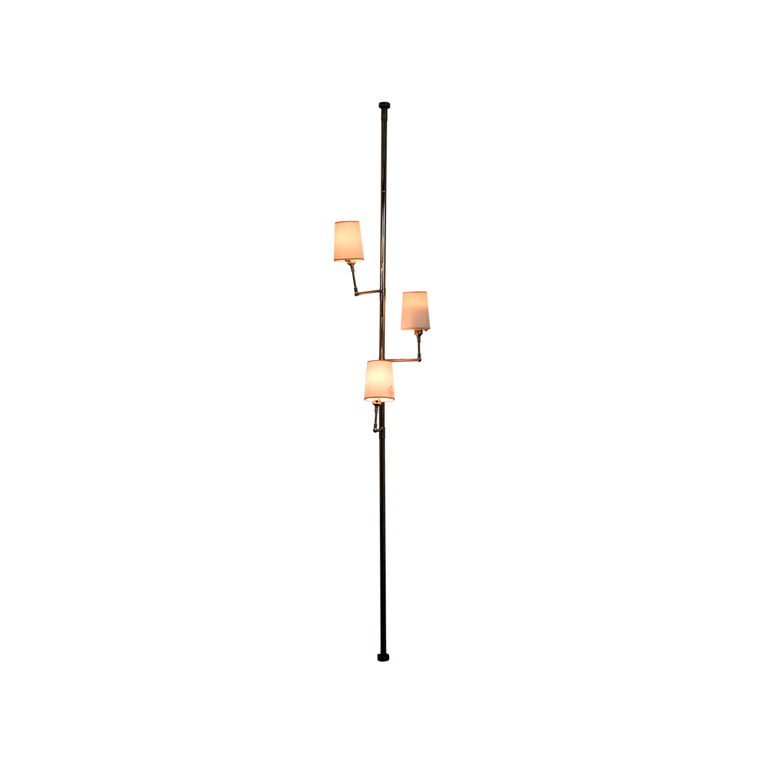 Ziyi Ziyi Tension Pole Lamp in Polished Nickel used