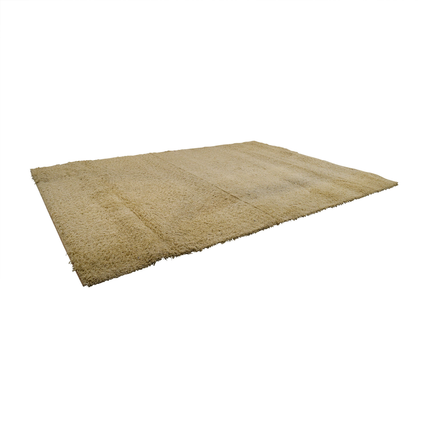 Large White Shag Rug on sale