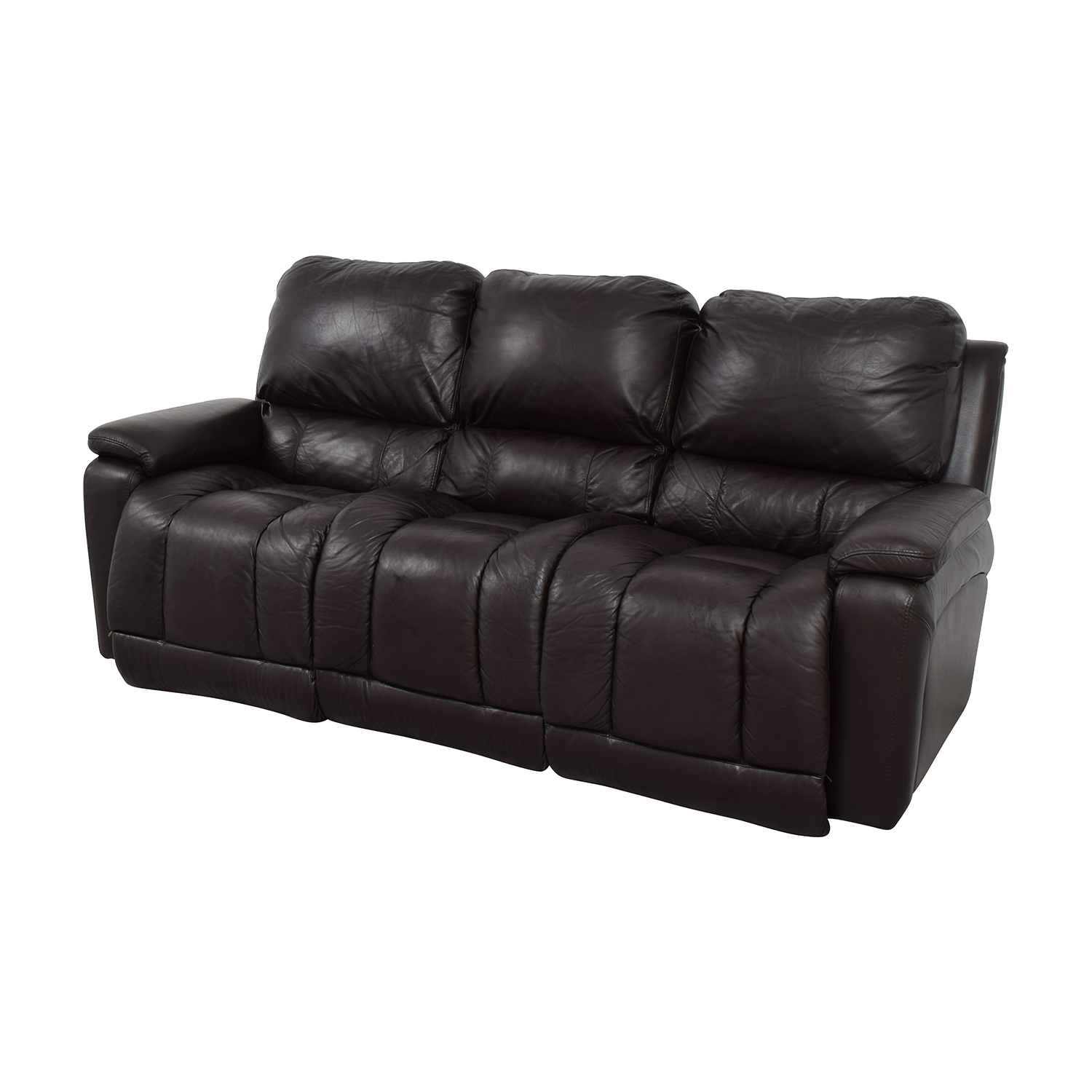 77 off la z boy la z boy brown leather reclining sofa sofas
