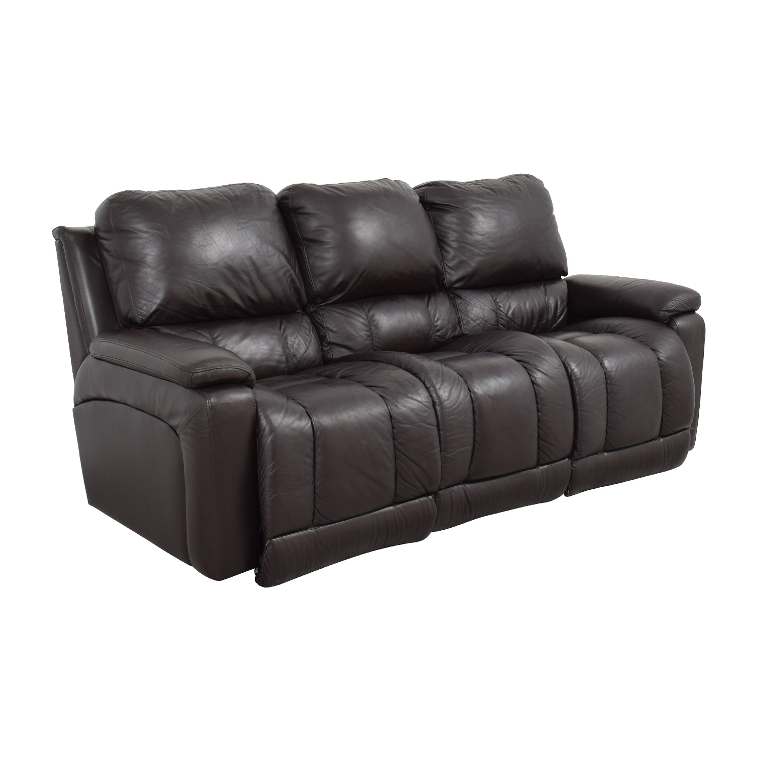 77 Off La Z Boy La Z Boy Brown Leather Reclining Sofa