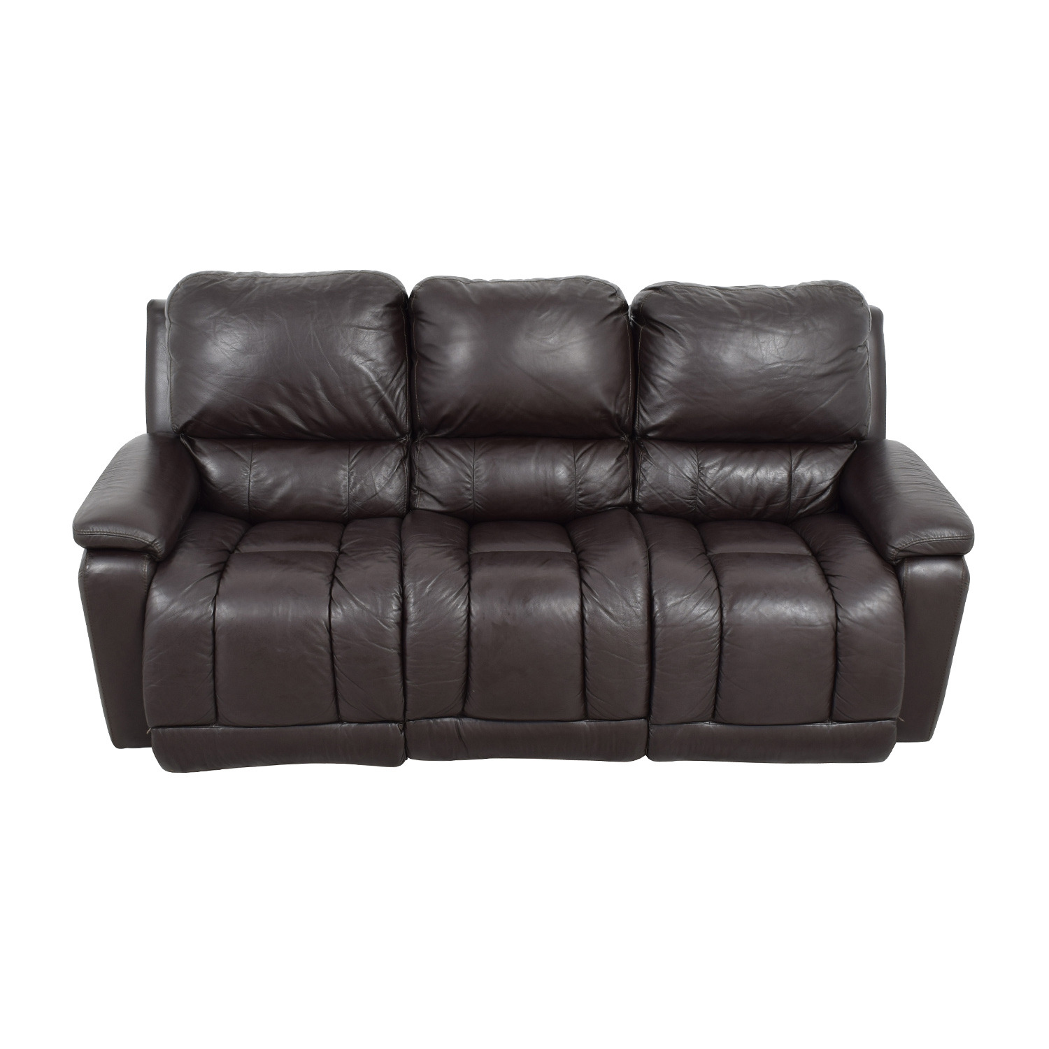 La-Z-Boy La-Z-Boy Brown Leather Reclining Sofa price