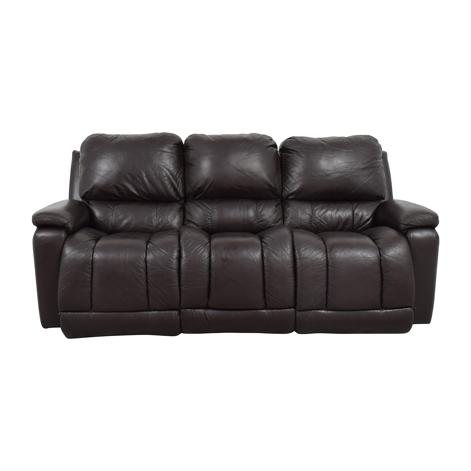 shop La-Z-Boy La-Z-Boy Brown Leather Reclining Sofa online