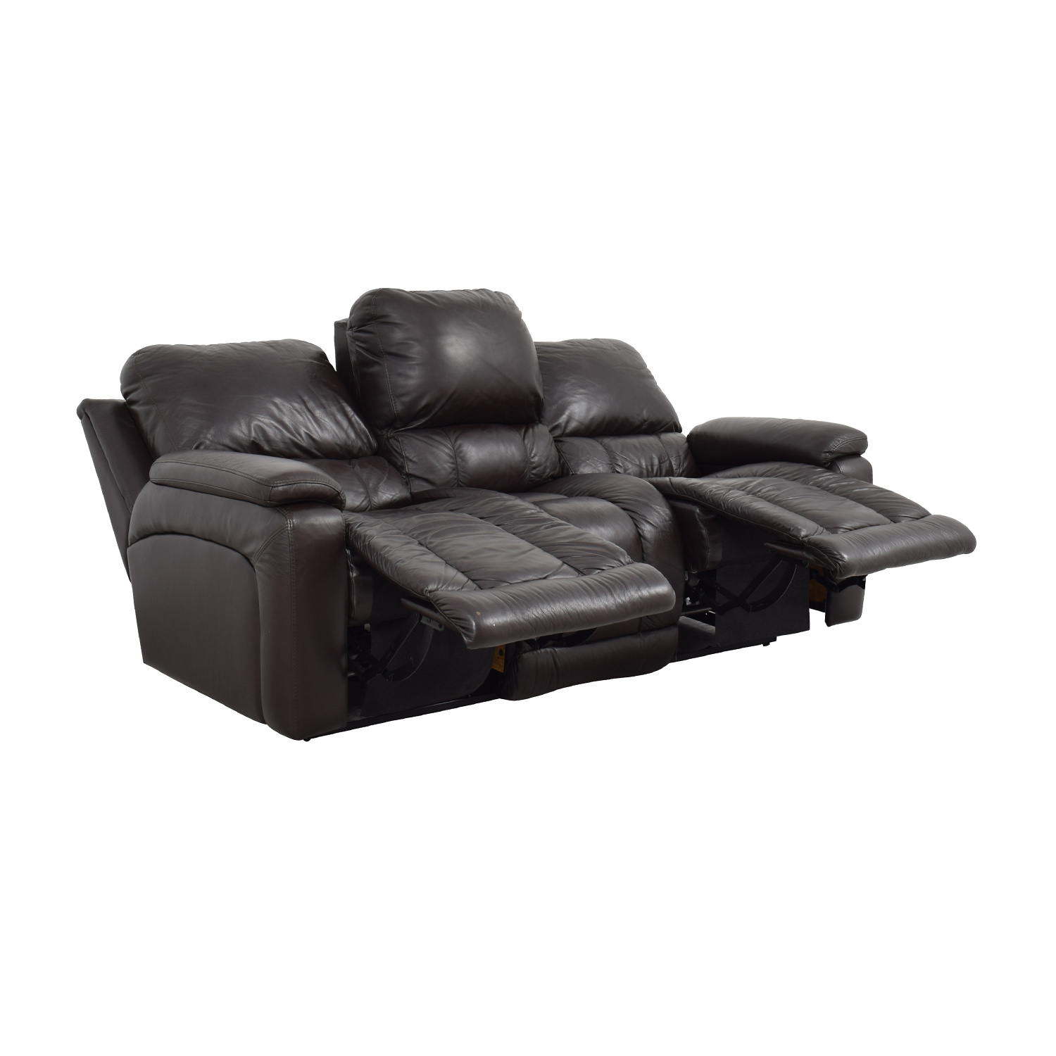 ... La-Z-Boy La-Z-Boy Brown Leather Reclining Sofa Sofas ...  sc 1 st  Furnishare & 71% OFF - La-Z-Boy La-Z-Boy Brown Leather Reclining Sofa / Sofas islam-shia.org
