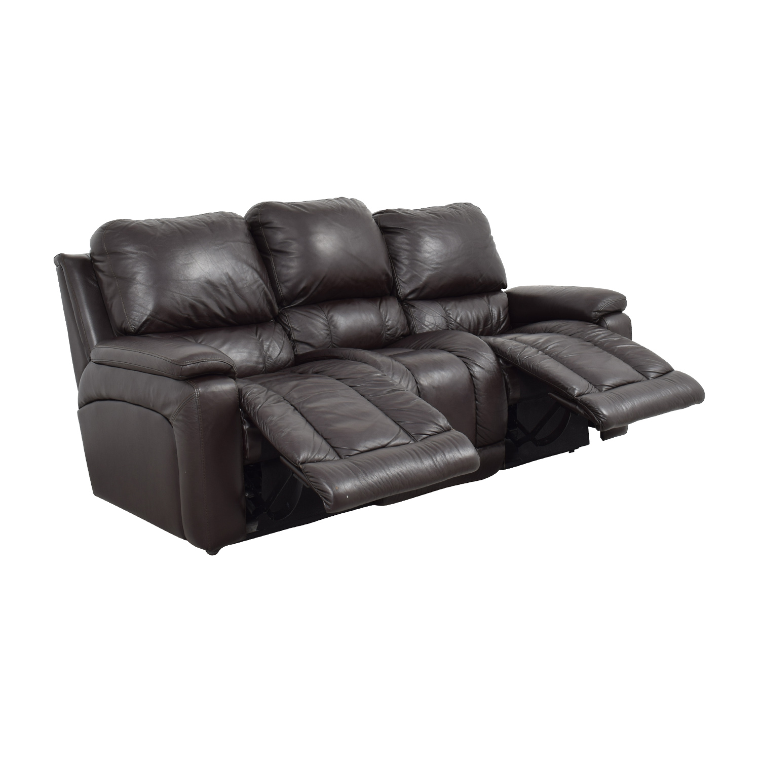 La Z Boy Brown Leather Reclining Sofa Sofas