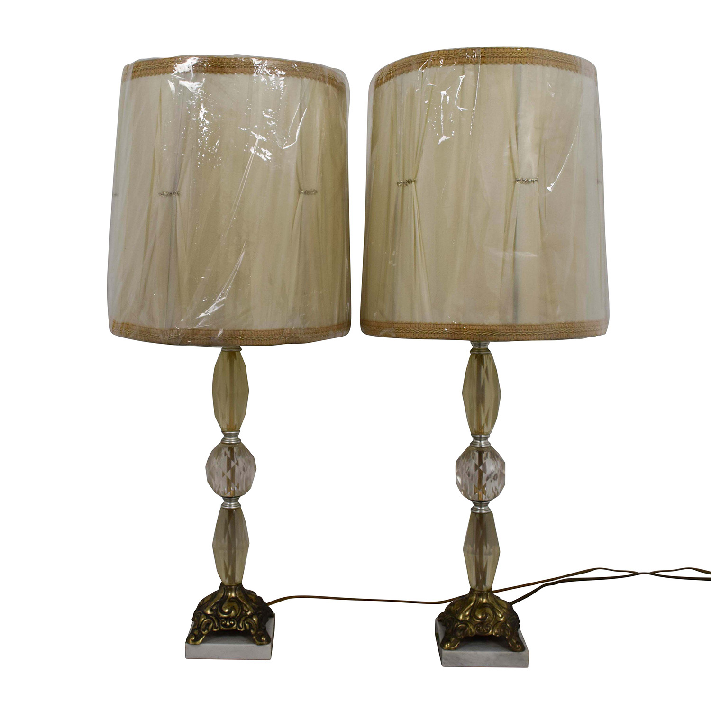 Vintage Crystal Lamps on sale