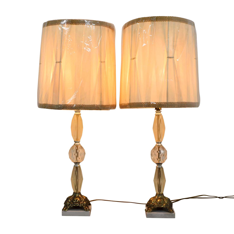 shop Vintage Crystal Lamps