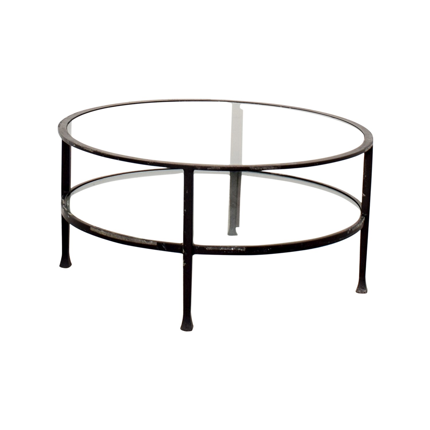 shop Pottery Barn Round Glass Coffee Table Pottery Barn Coffee Tables