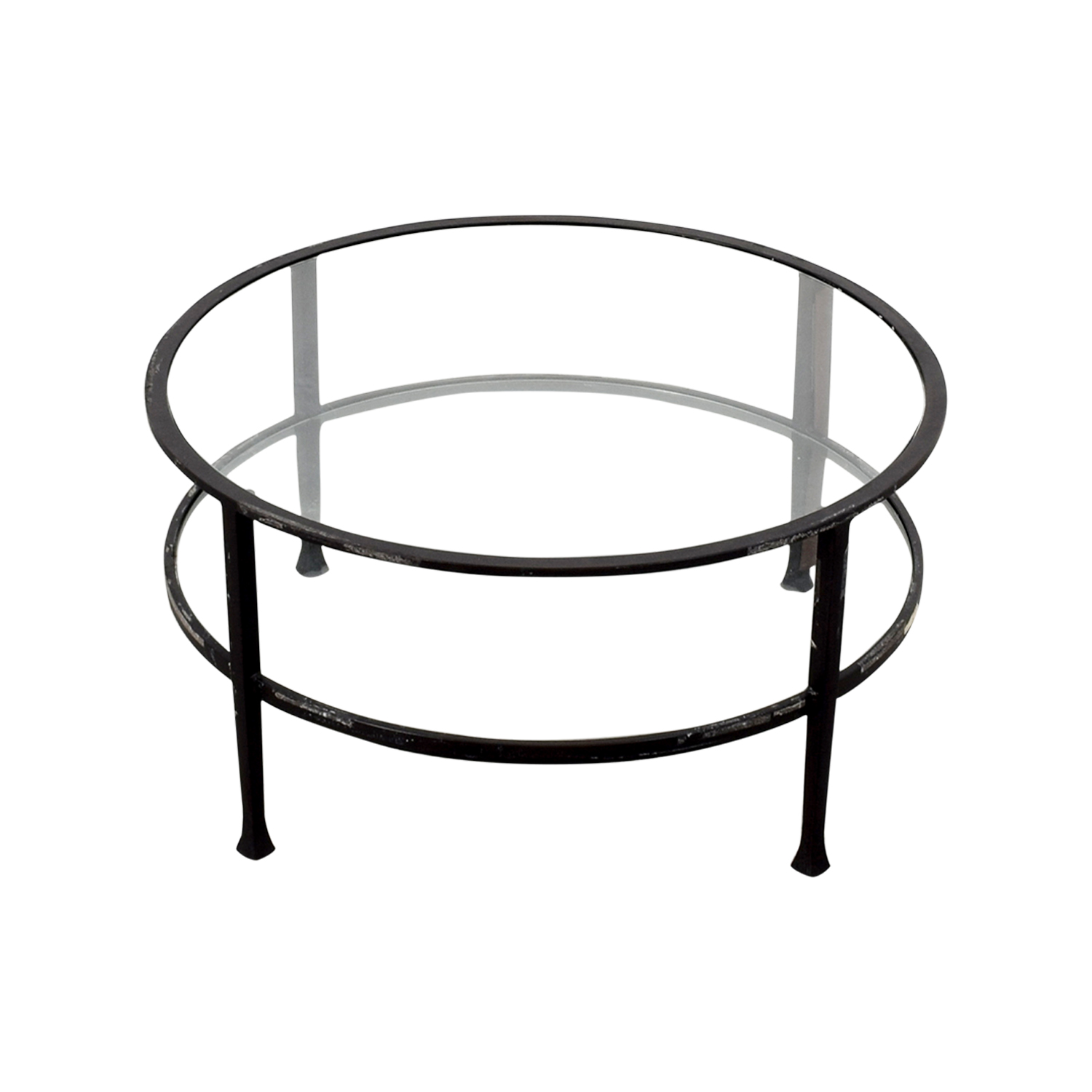 Pottery Barn Pottery Barn Round Glass Coffee Table Coffee Tables