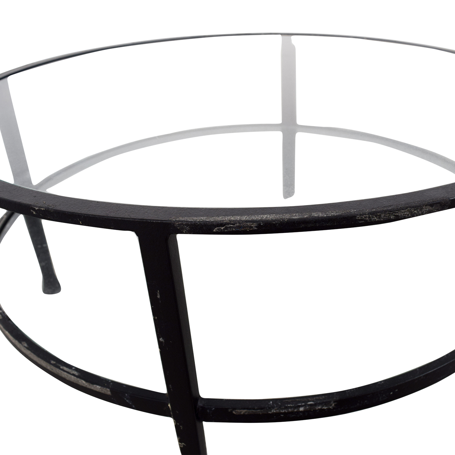 62% OFF Pottery Barn Pottery Barn Round Glass Coffee Table Tables
