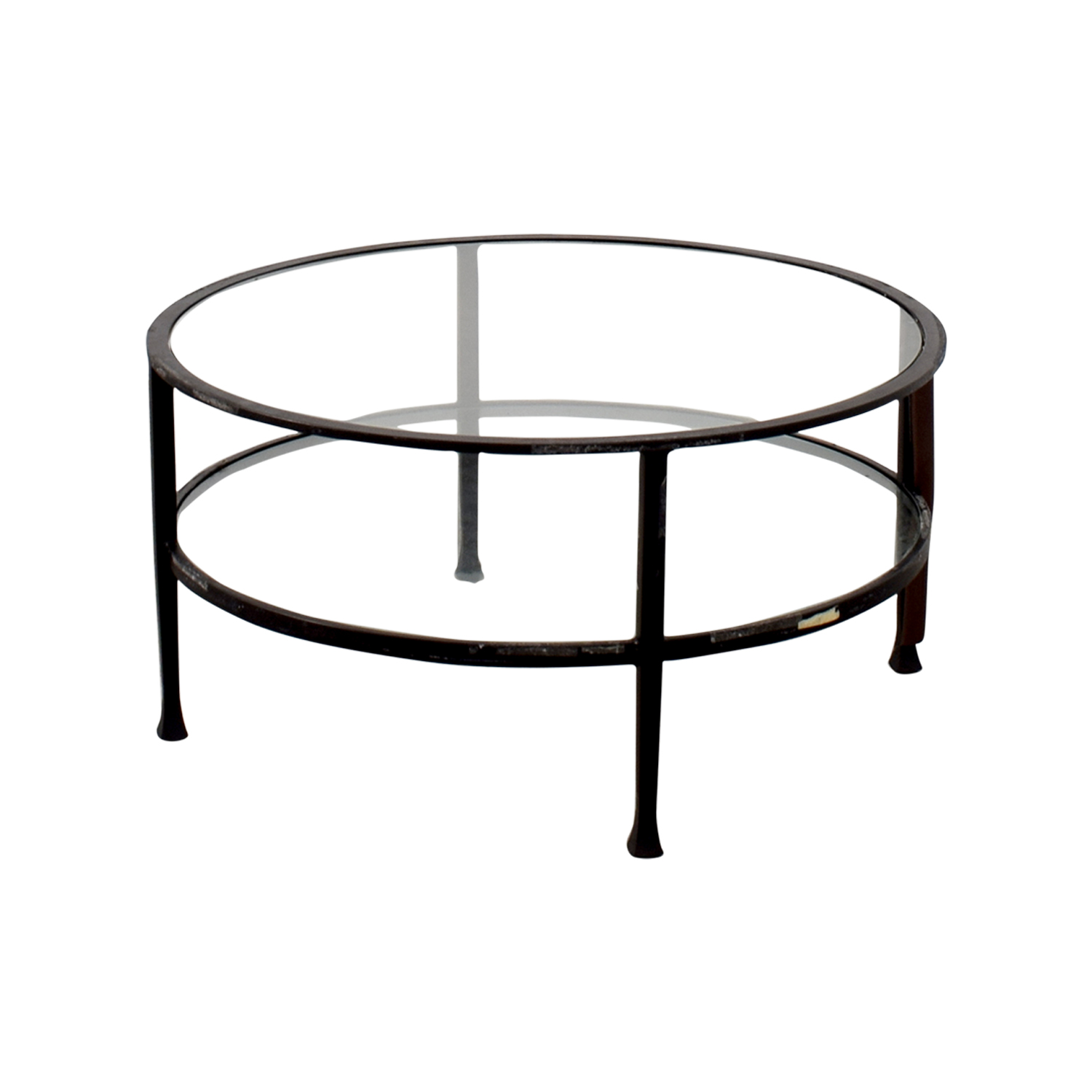 Pottery Barn Pottery Barn Round Glass Coffee Table