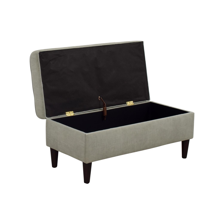 GILT GILT Gray Tufted Storage Bench