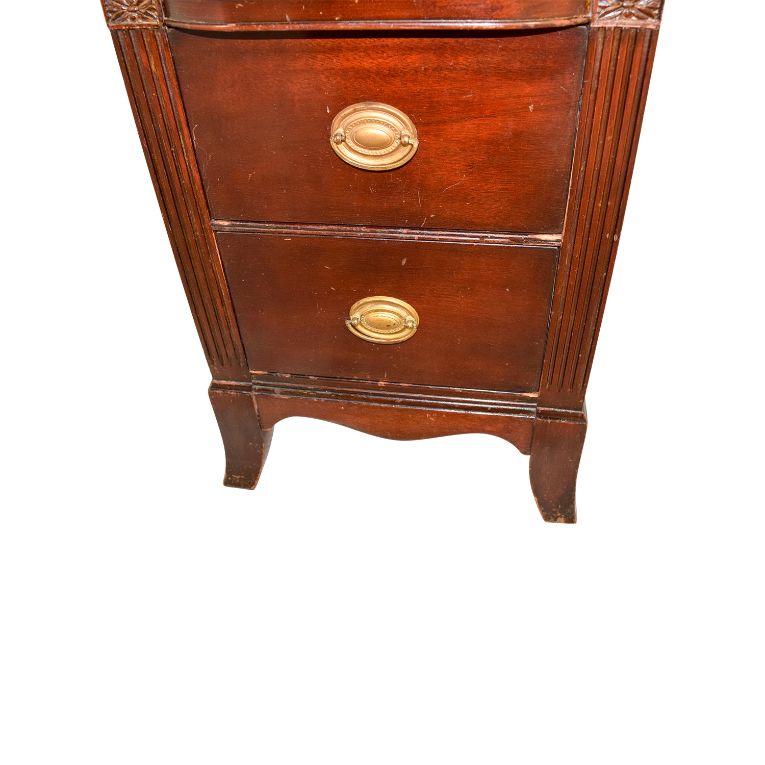Wood with Gold Accent Nightstand nj