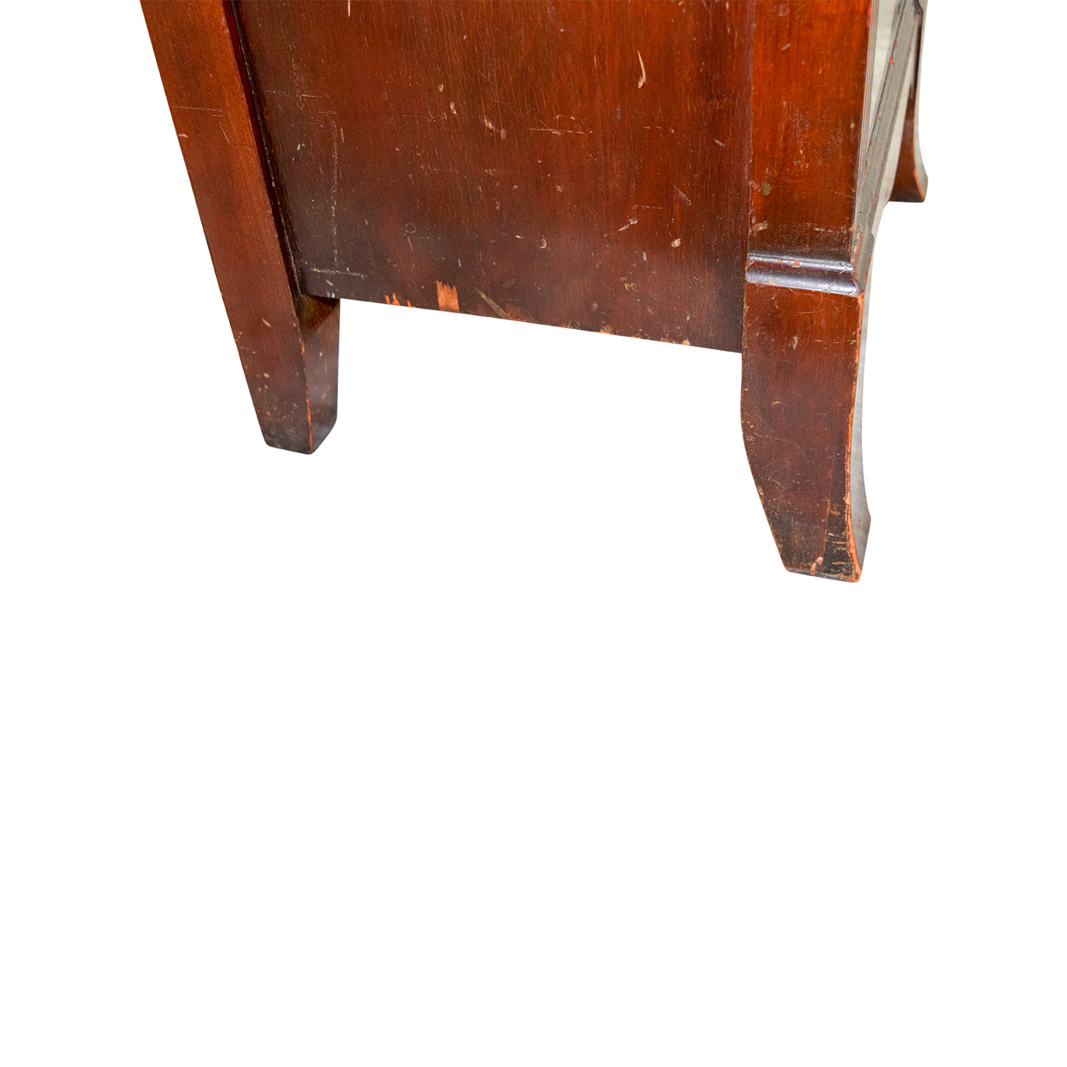 Wood with Gold Accent Nightstand price
