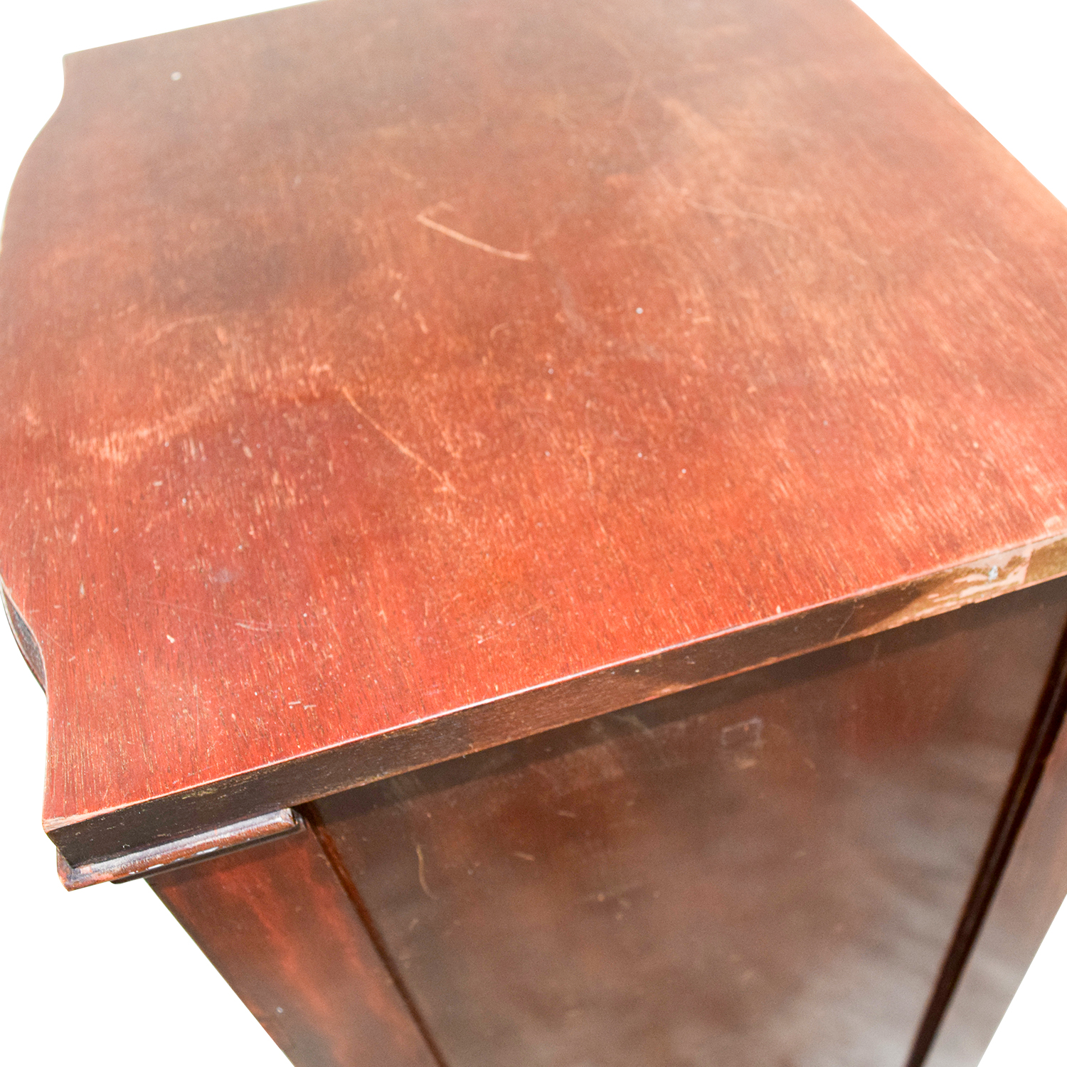 shop Wood with Gold Accent Nightstand End Tables