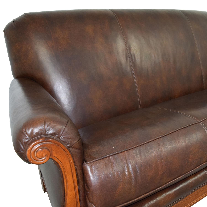 73 OFF Thomasville Thomasville MidCentury Leather Sofa Sofas