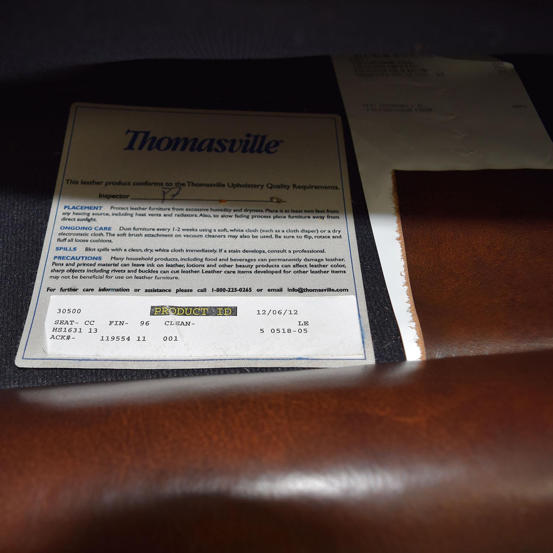73 Off Thomasville Thomasville Mid Century Leather Sofa Sofas