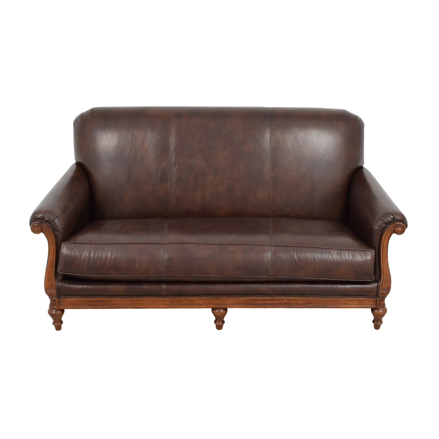 ... Thomasville Mid Century Leather Sofa Thomasville ...