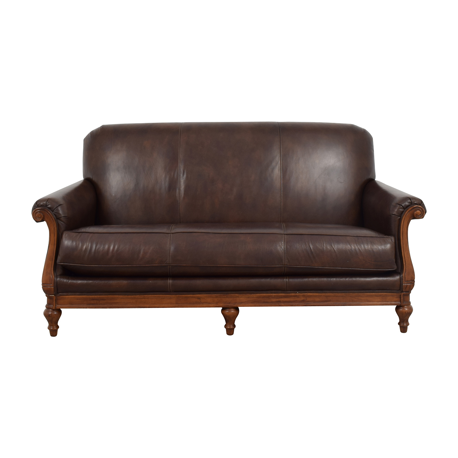 73 Off Thomasville Thomasville Mid Century Leather Sofa Sofas ~ Tan Leather Mid Century Sofa