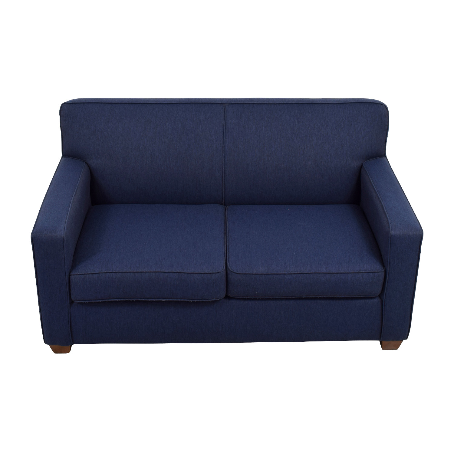 Amazing 52 Off West Elm West Elm Blue Loveseat Sofas Caraccident5 Cool Chair Designs And Ideas Caraccident5Info