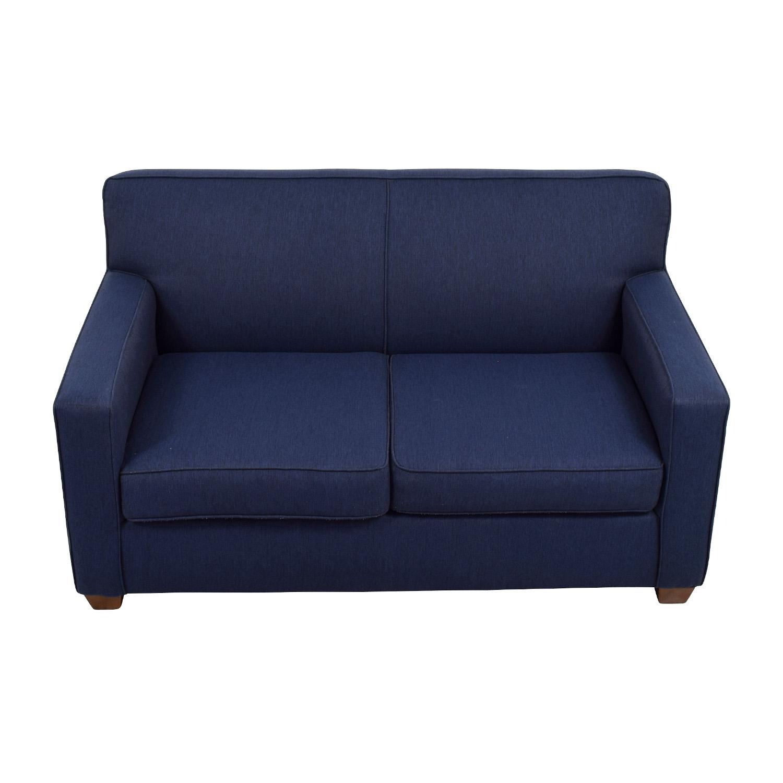 Stupendous 52 Off West Elm West Elm Blue Loveseat Sofas Machost Co Dining Chair Design Ideas Machostcouk