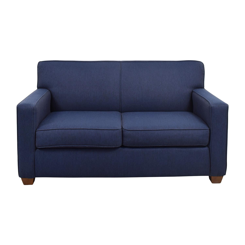 West Elm Blue Loveseat Sofas