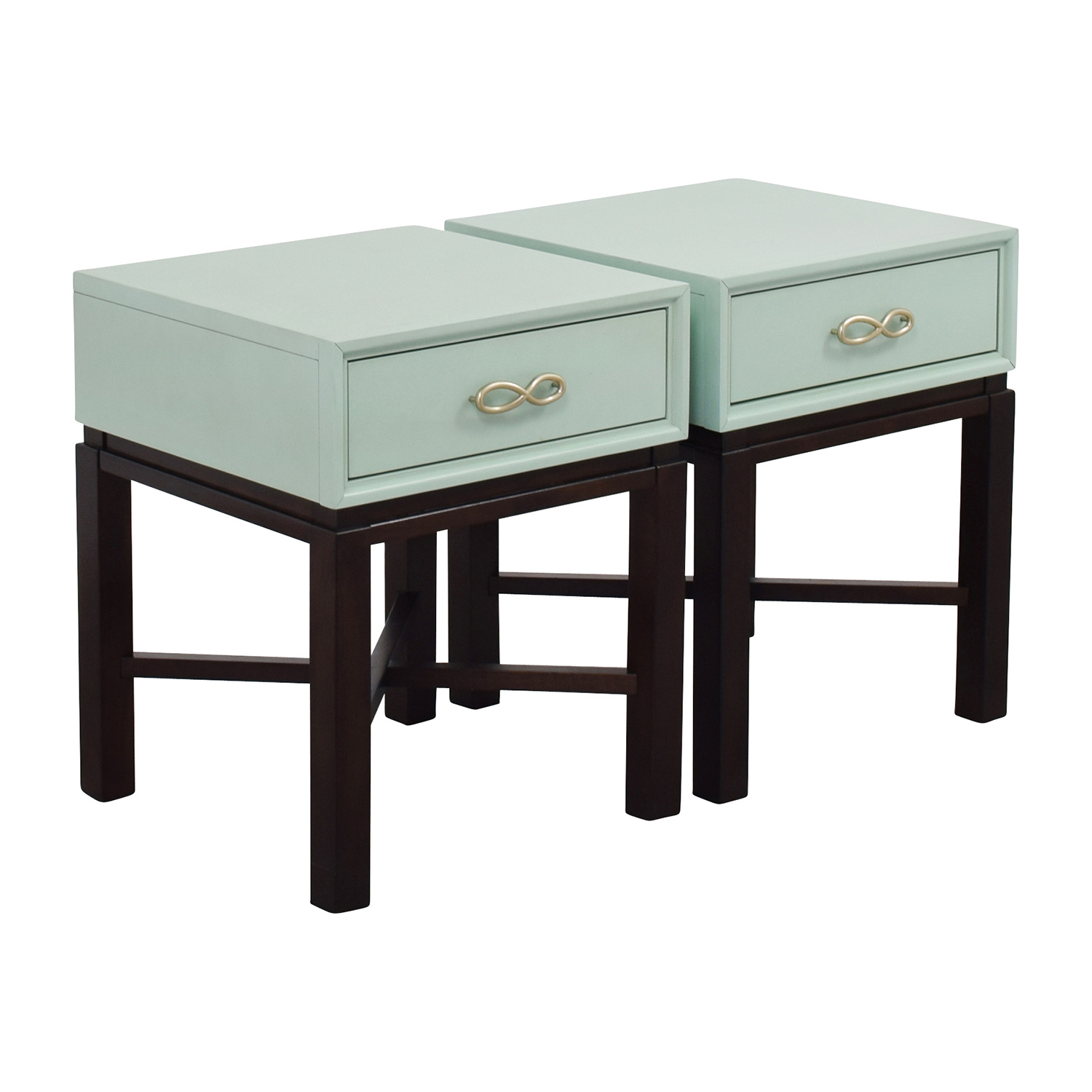 65% OFF Chairside Green End Side Tables Tables