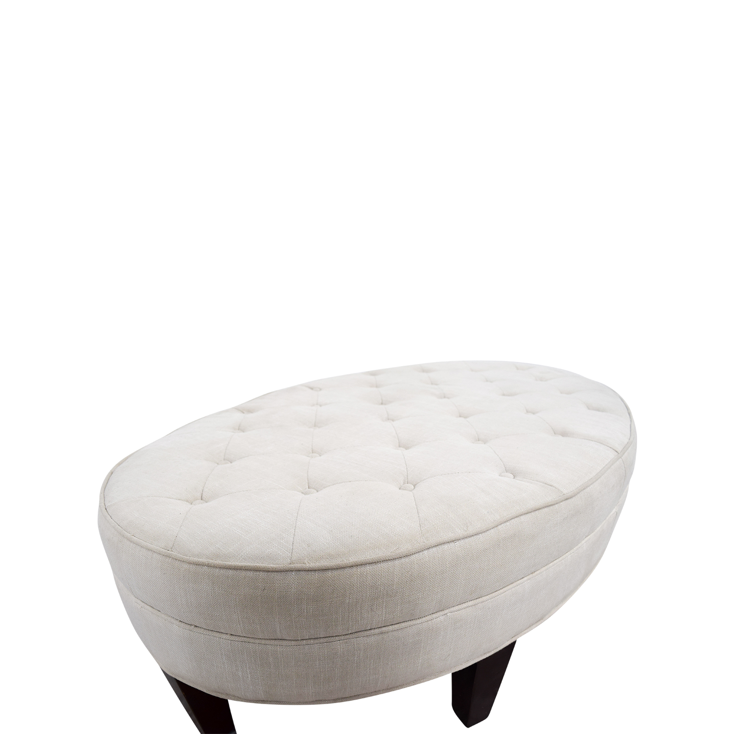 86 Off Oval Tufted Ottoman Chairs