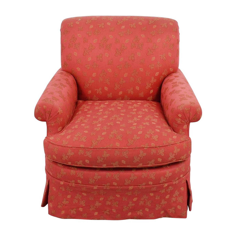 buy Custom Red Upholstered Skirted Accent Chair online