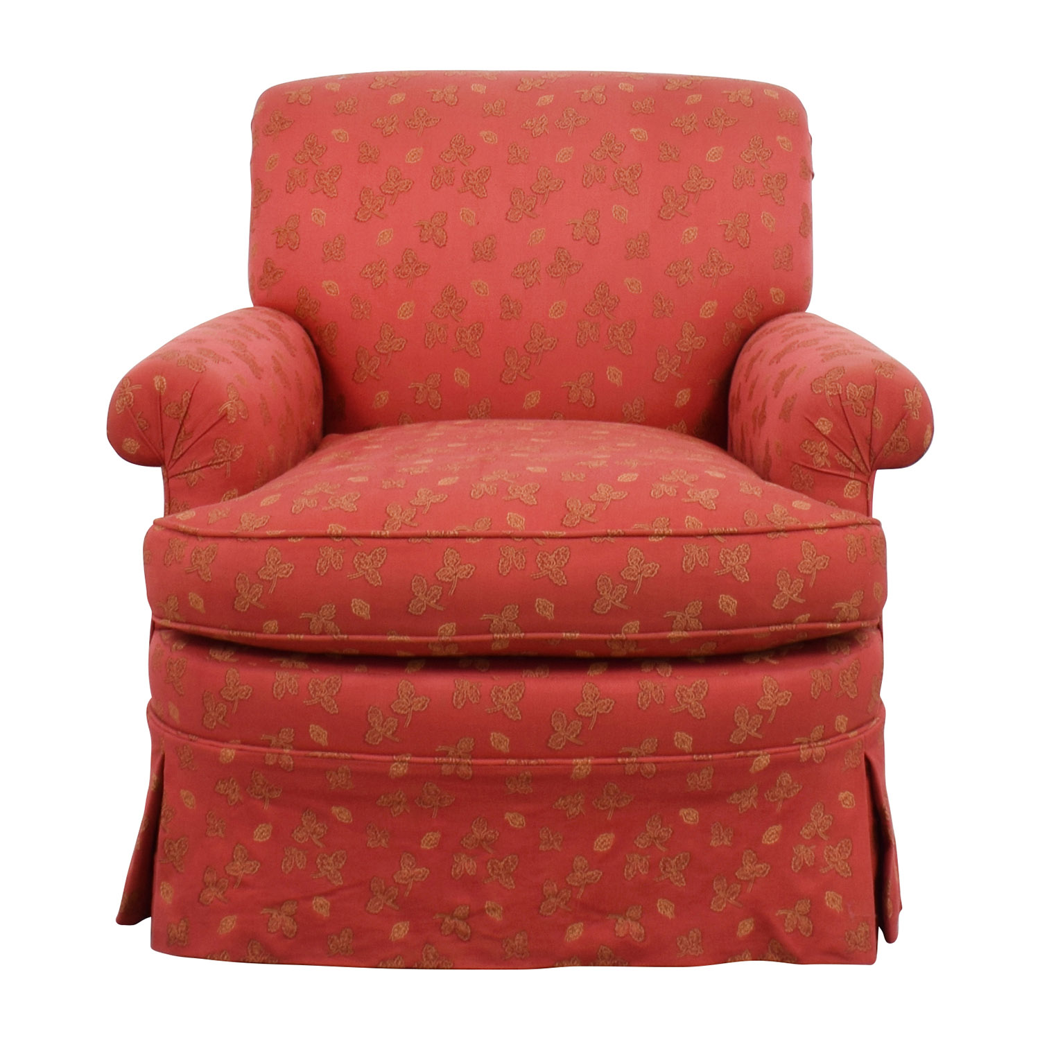 Shop Custom Red Upholstered Skirted Accent Chair Online ...