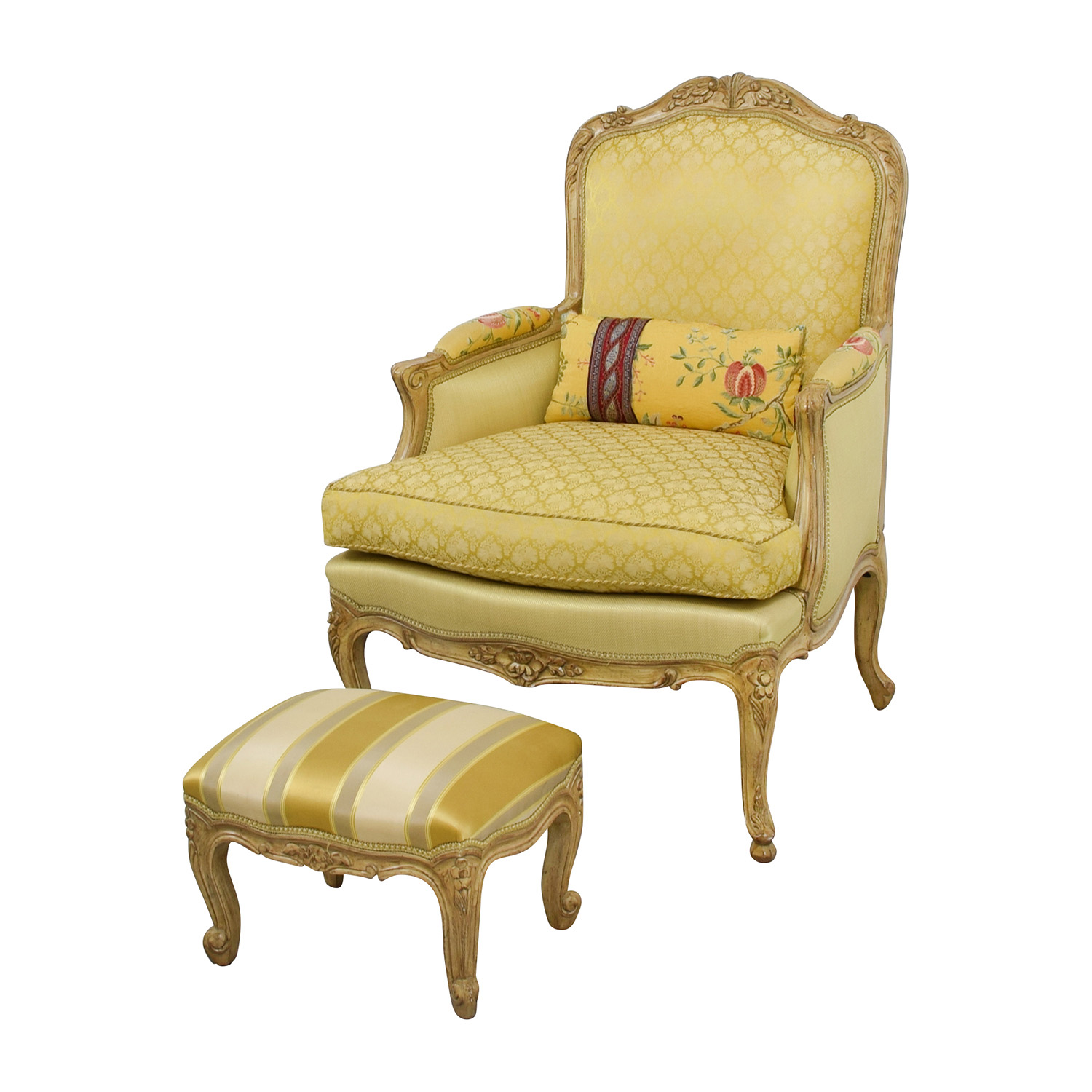 Unique Upholstered Chairs: Custom Scalamadre Upholstered Louis Style Chair