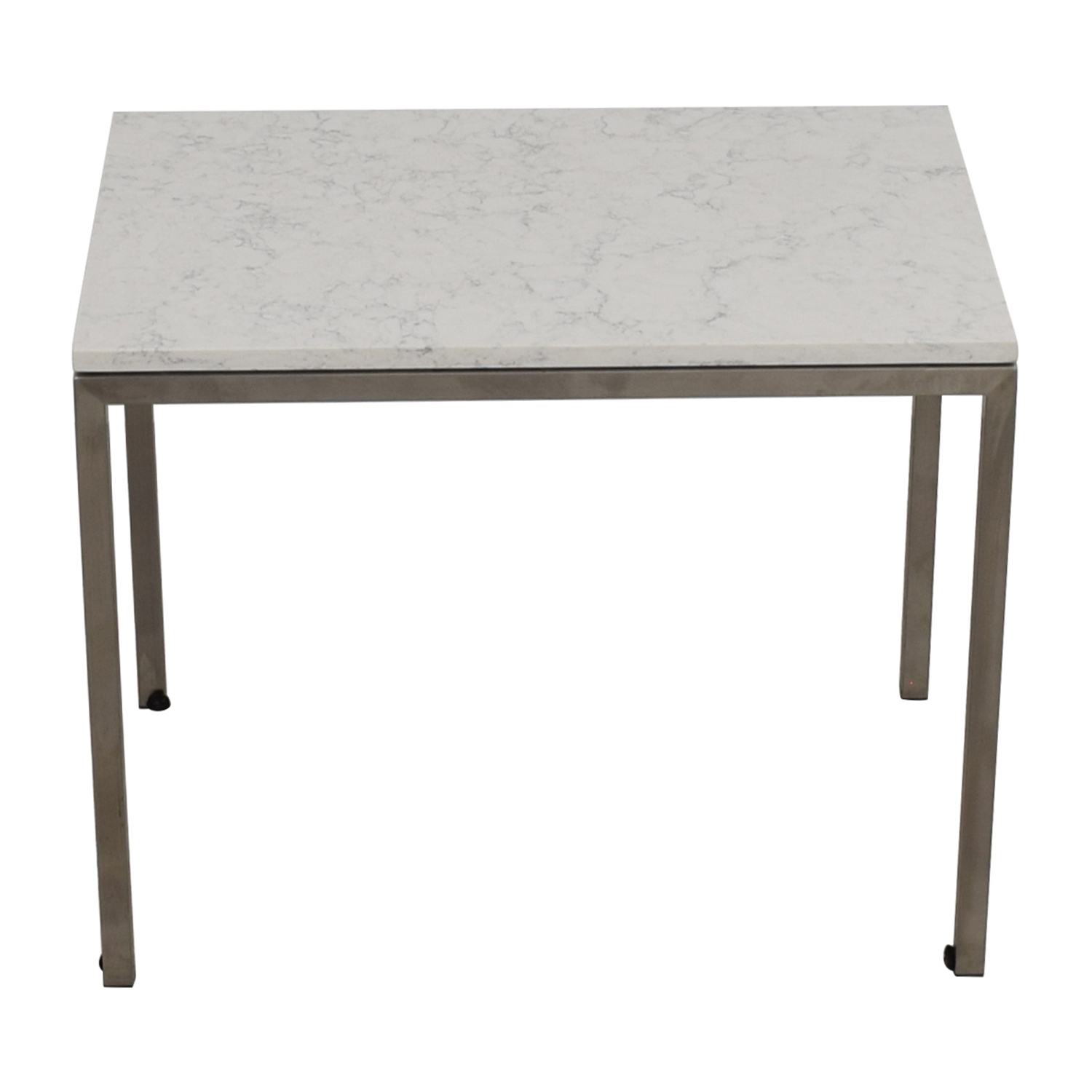 Room & Board Portica Table with White Marbled Quartz Composite Top / Sofas