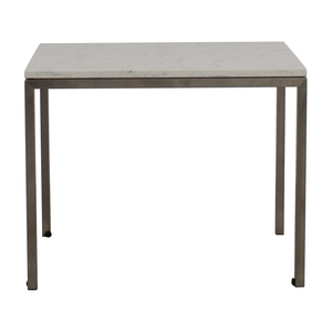 Room & Board Room & Board Portica Table with White Marbled Quartz Composite Top used