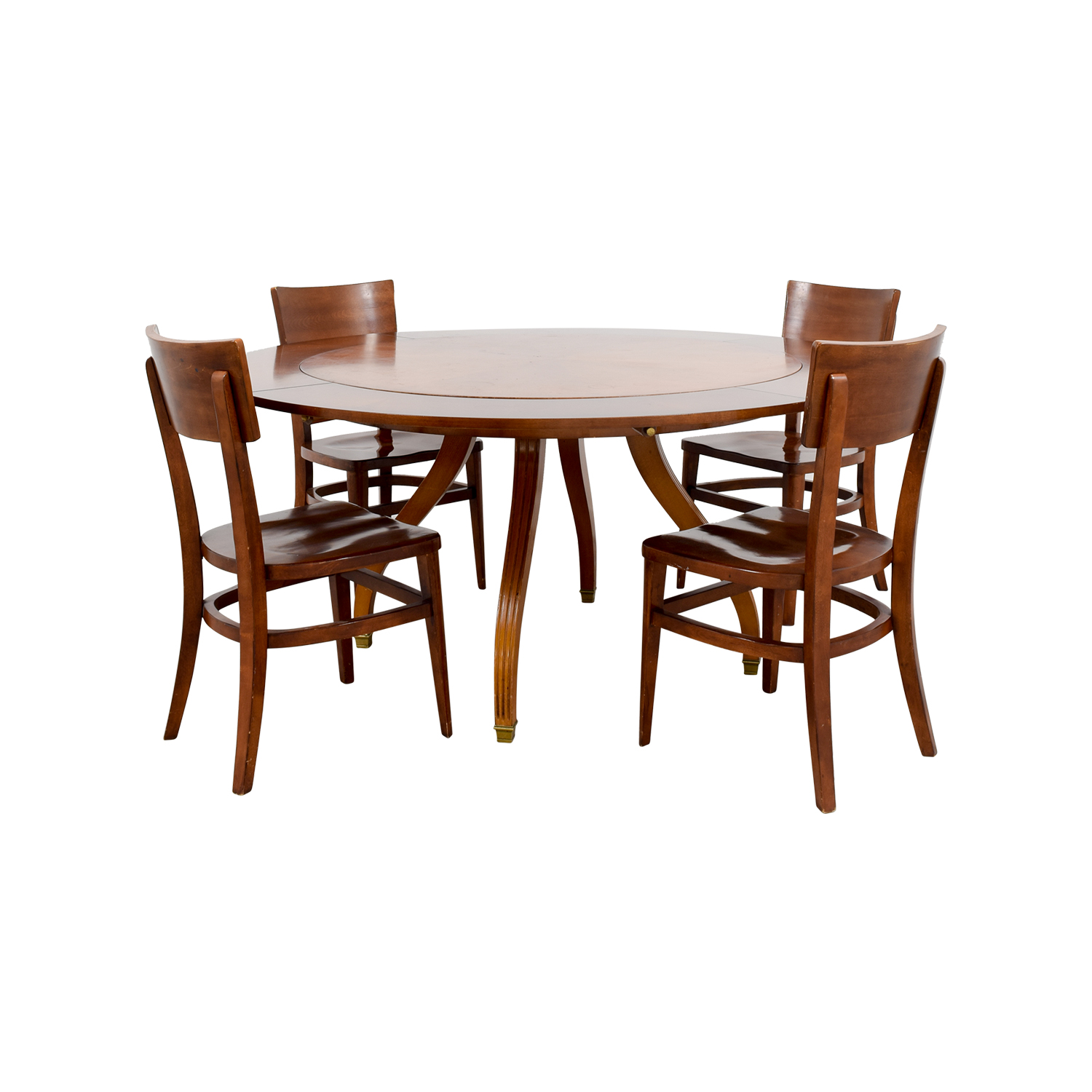 Circular Dining Set with Border Extendable Leaves nj