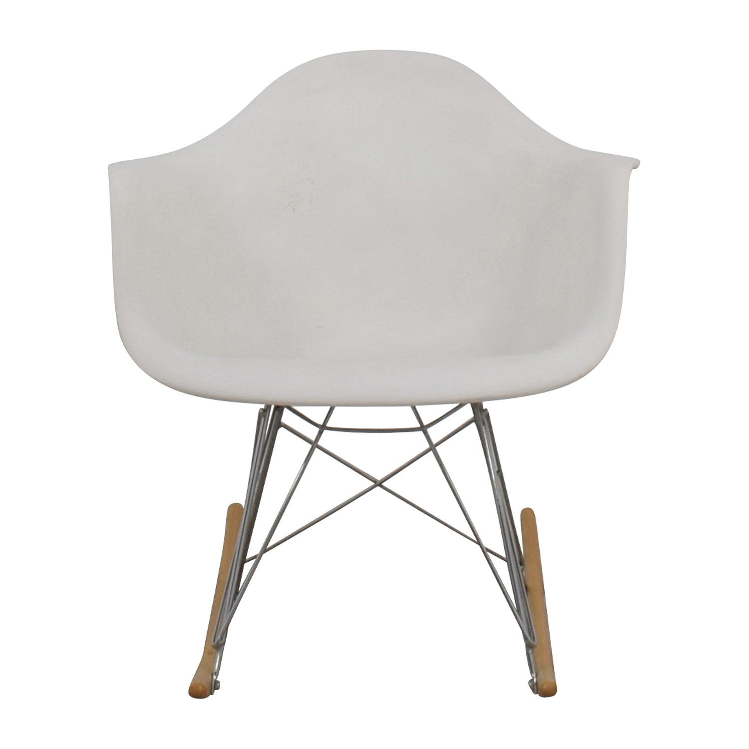 shop Modern White Rocking Chair Accent Chairs