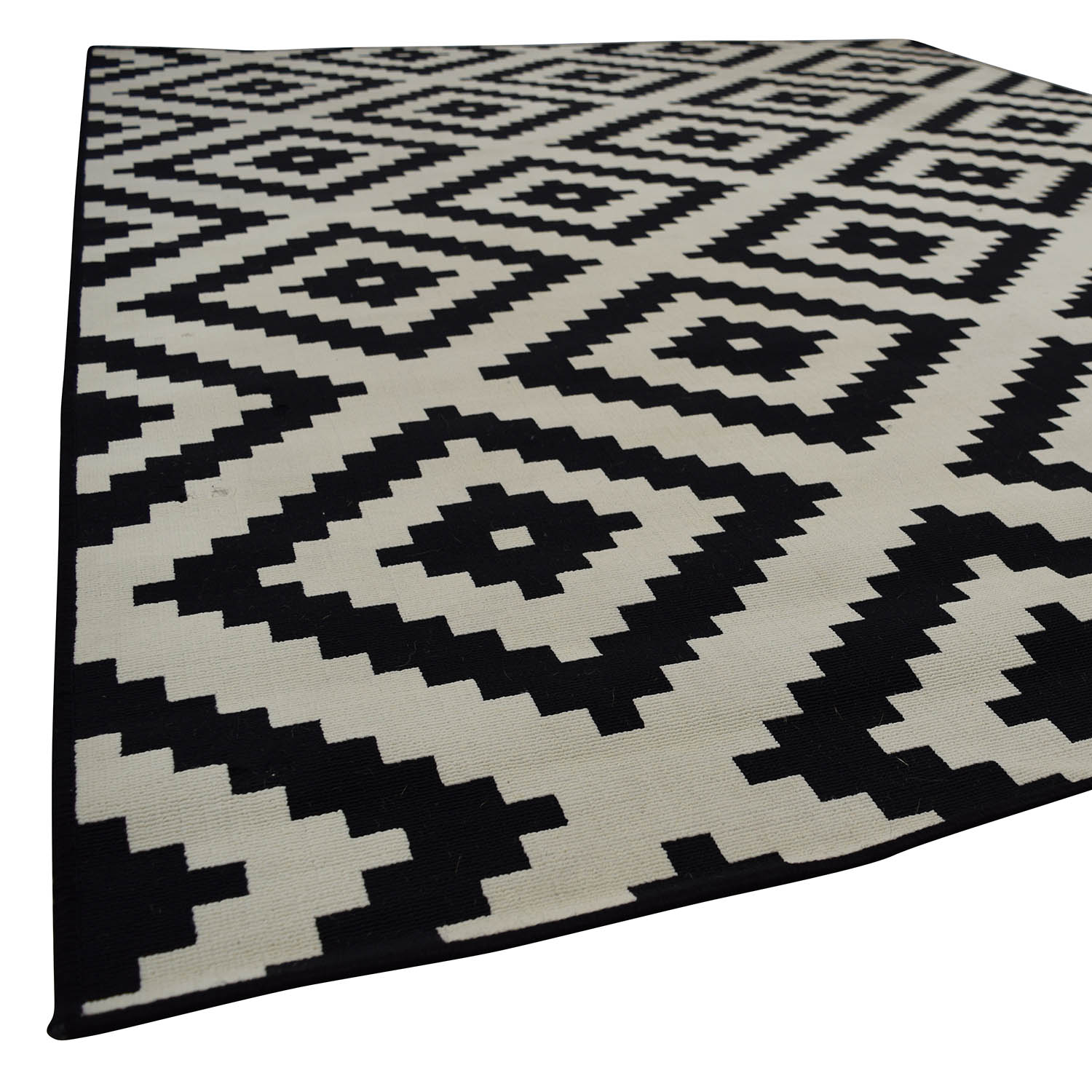 Ikea Black And White Geometric Carpet Decor