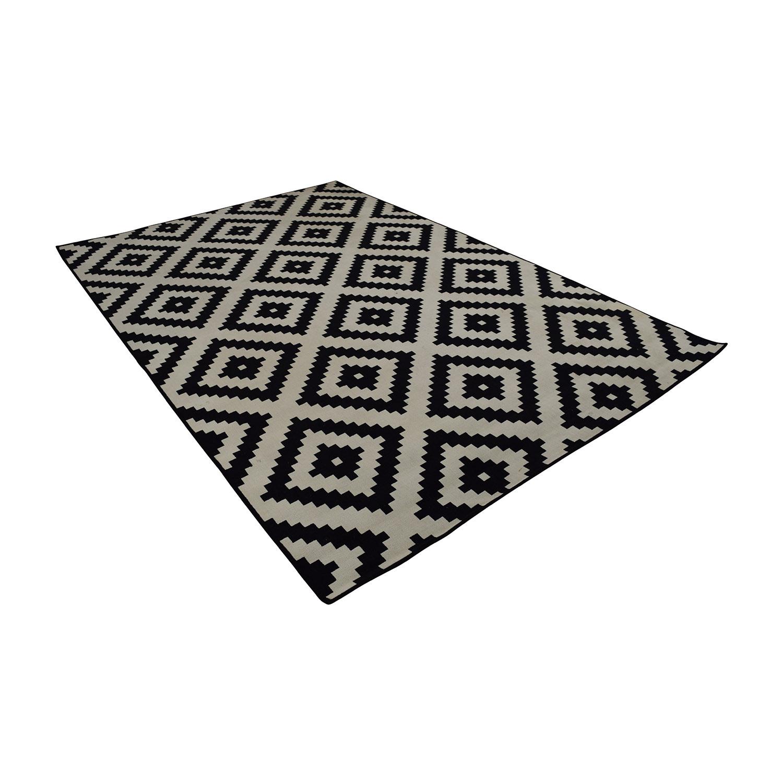 IKEA IKEA Black and White Geometric Carpet price