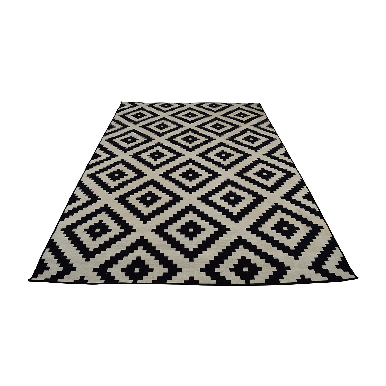 41 Off Ikea Black And White Geometric Carpet Decor