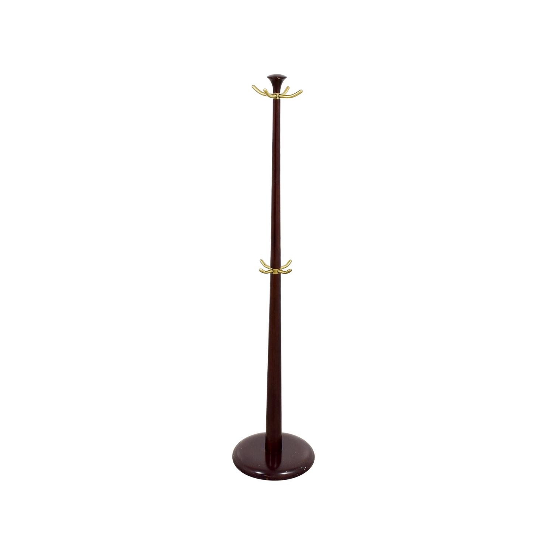 Wood and Metal Coat Rack Decorative Accents