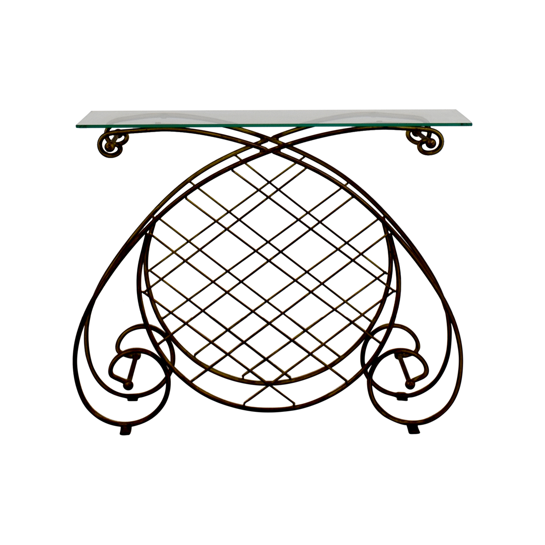 Decorative Glass Metal Table nj