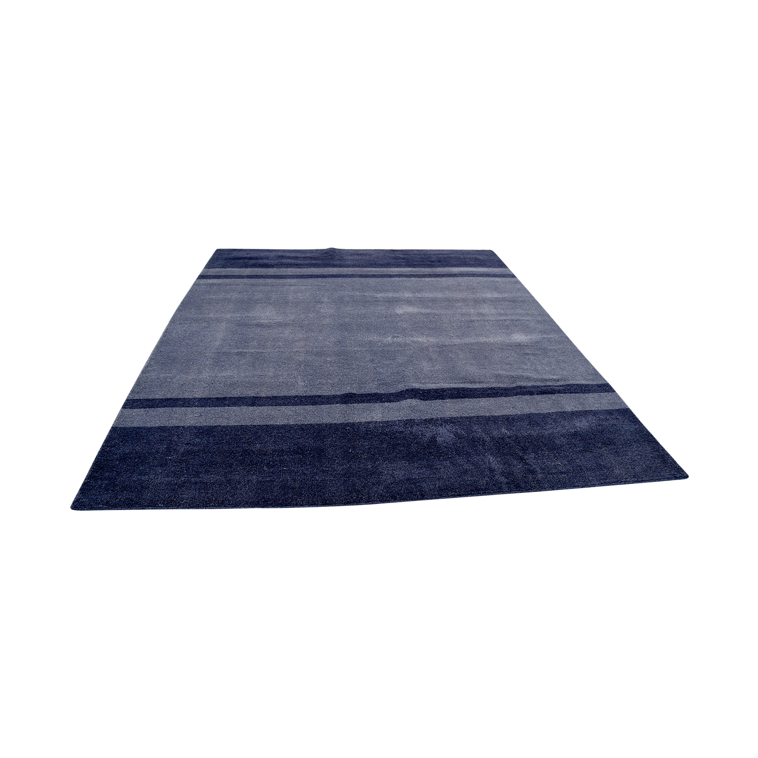 Pottery Barn Two-Toned Blue Rug / Decor