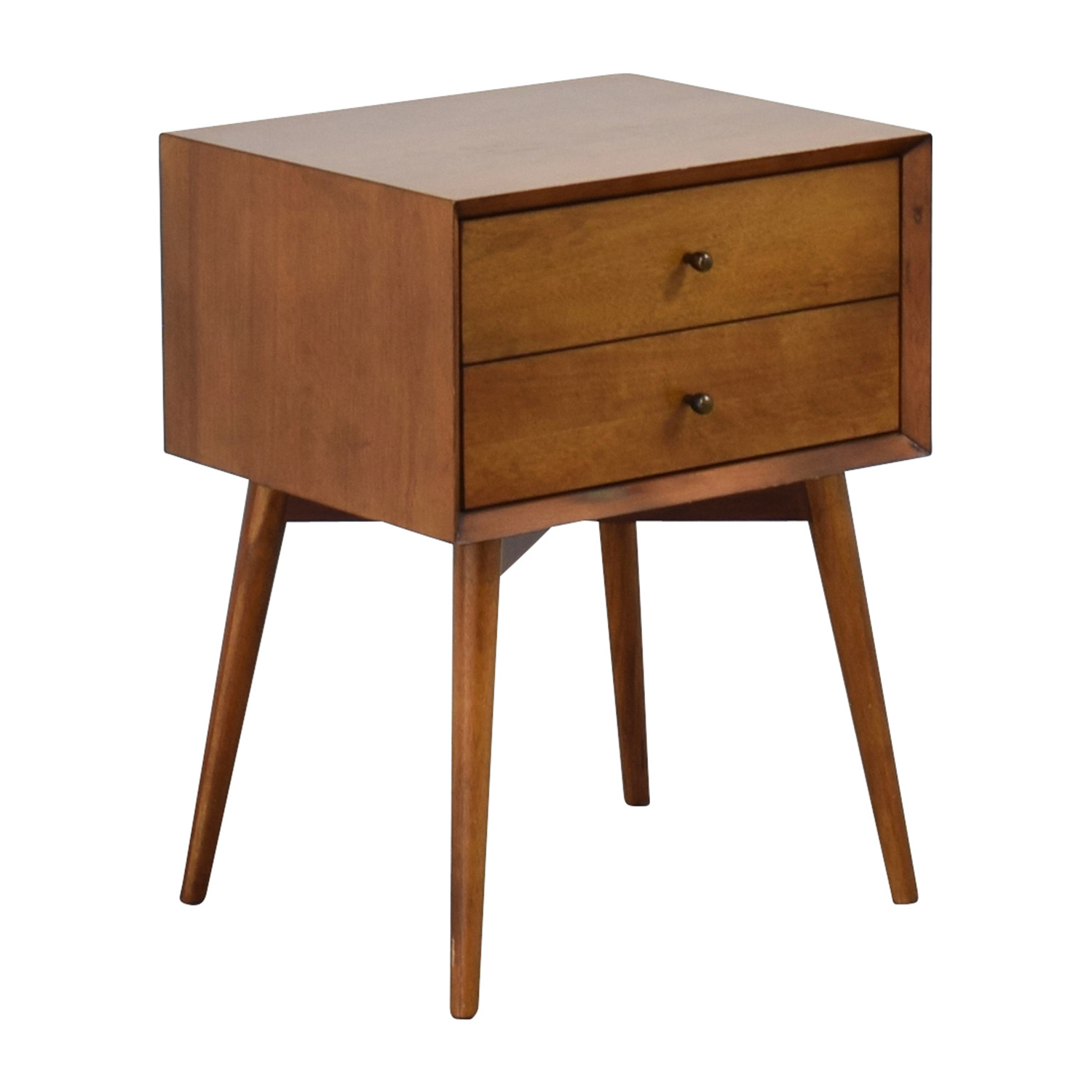 west elm end table 38% OFF   West Elm West Elm Mid Century Acorn Nightstand / Tables west elm end table