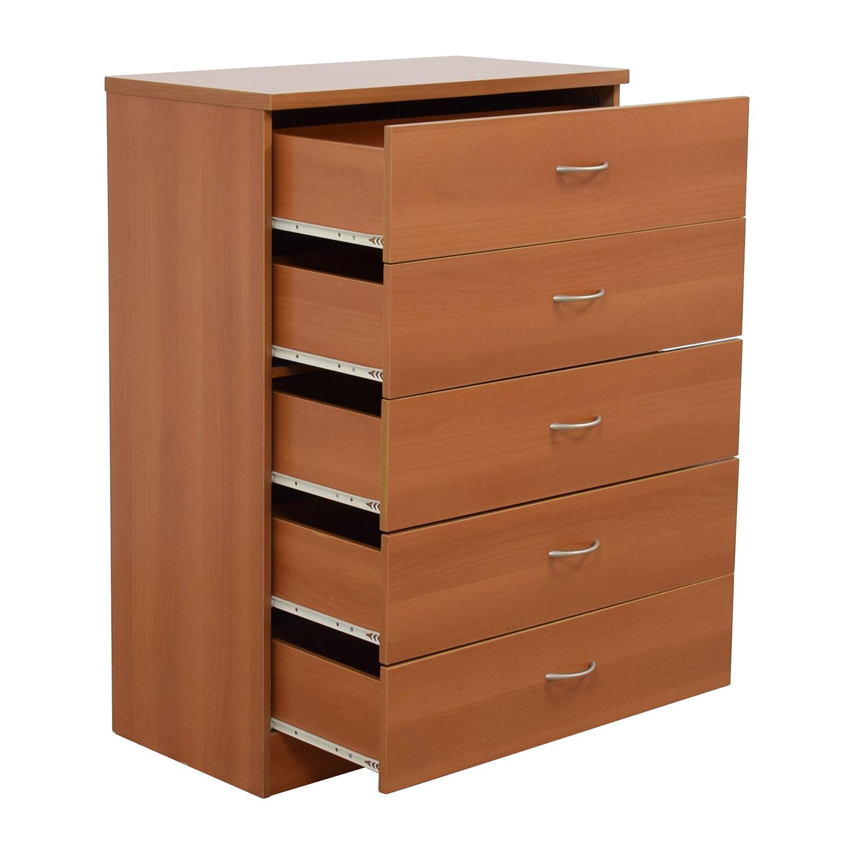 shop Cherry Five-Drawer Dresser