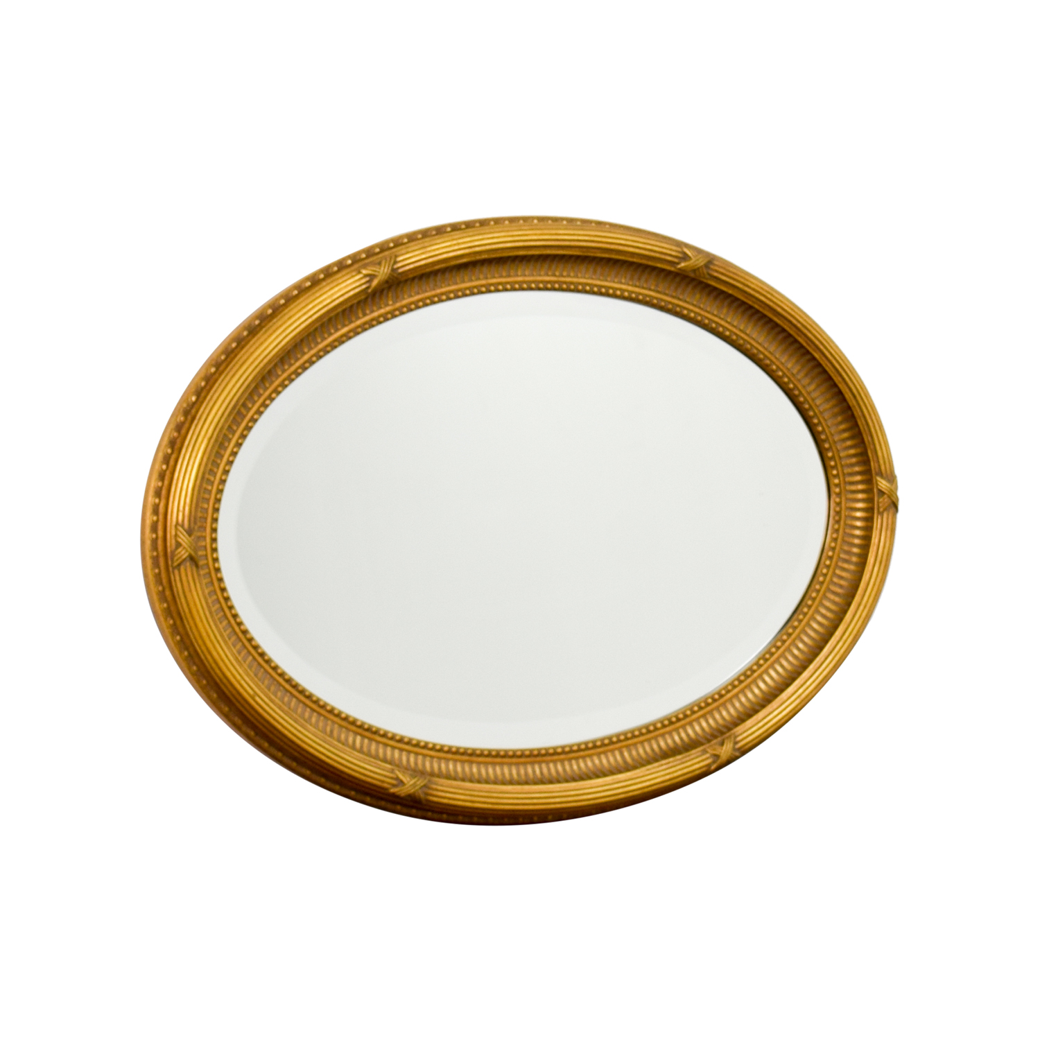 Ethan Allen Ethan Allen Oval Gold Mirror Decor