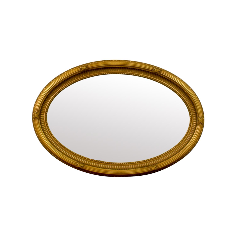 buy Ethan Allen Oval Gold Mirror Ethan Allen