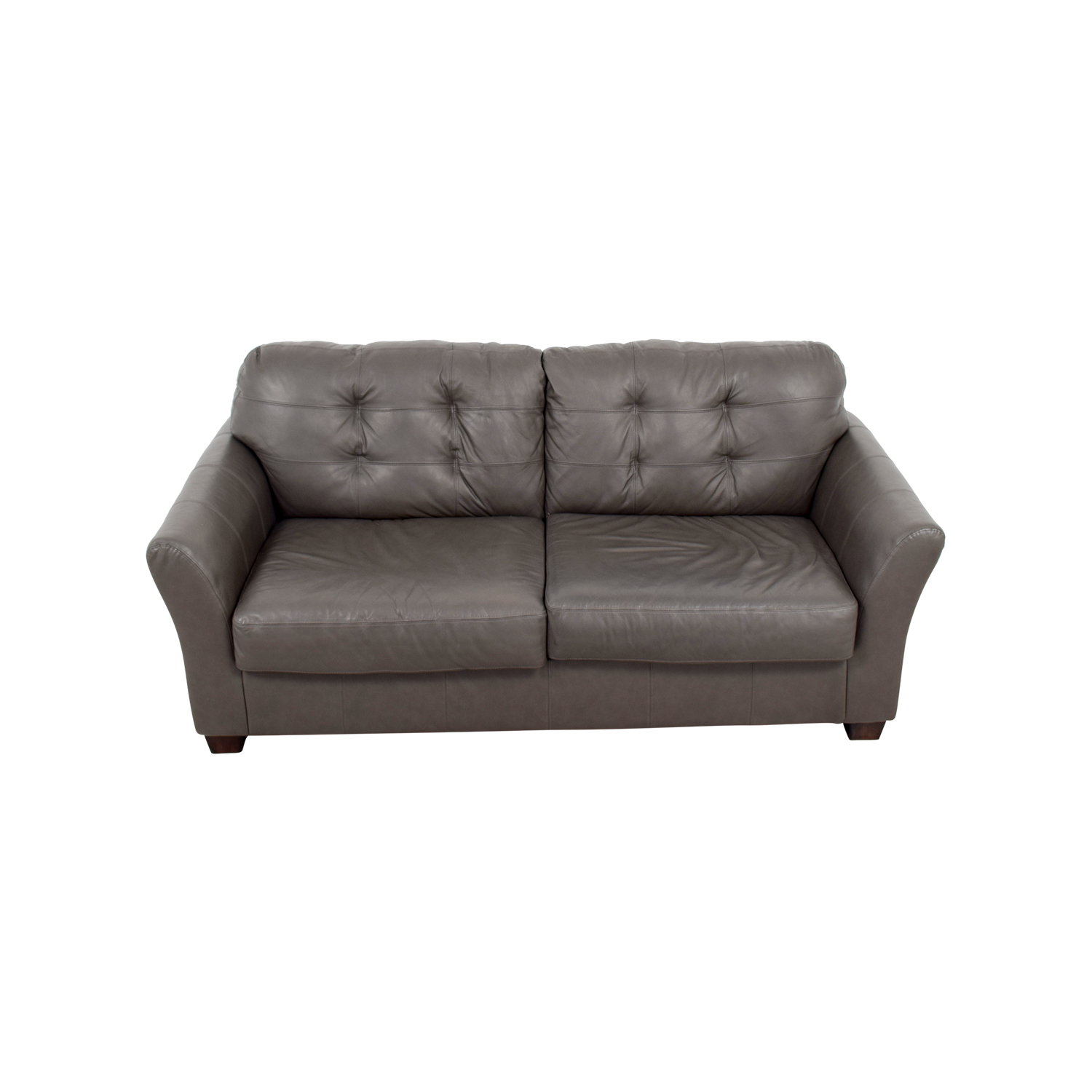 Gray Color Modern Tufted Sectional 2pc Fabric Modern Tufted Sectional Sofa 1701 Gray Sectional
