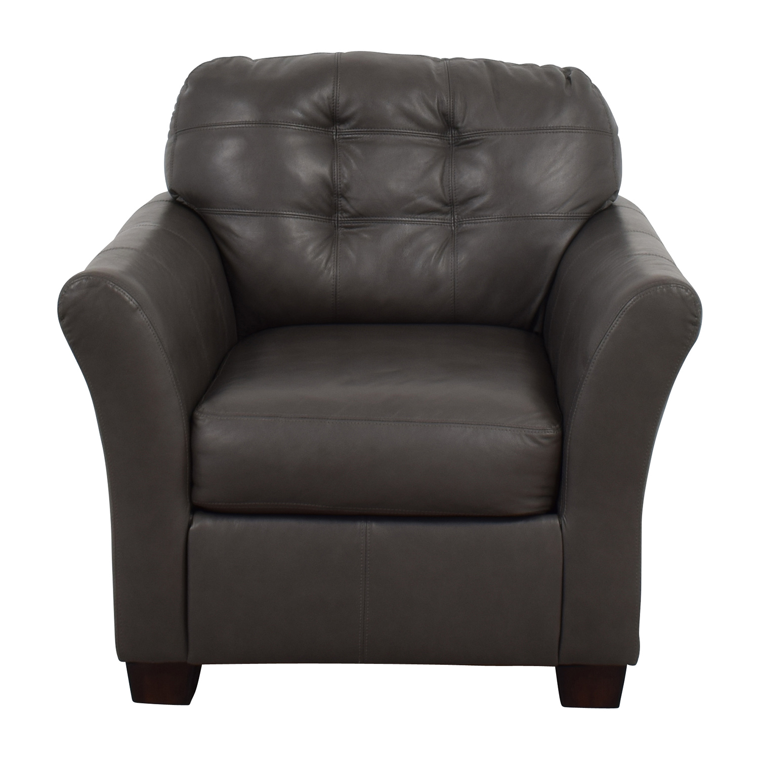 Ashley Furniture Gray Leather Chair