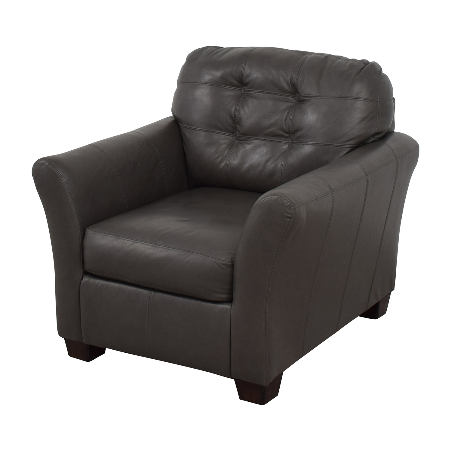 Ashley Furniture Gray Leather Chair sale